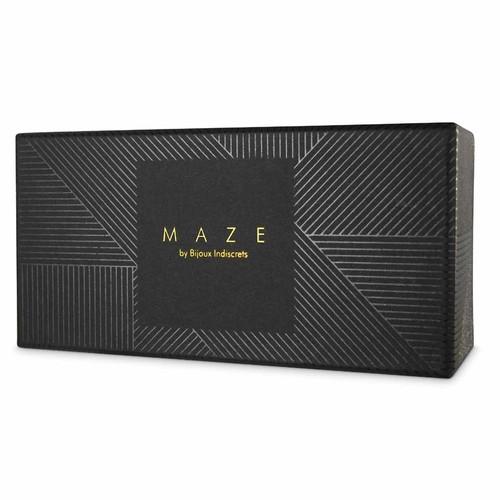 Front View of Bijoux Indiscrets Maze Thin Cuffs Box on white background