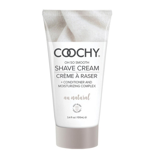 Front View of Coochy Cream shaving cream on a white background