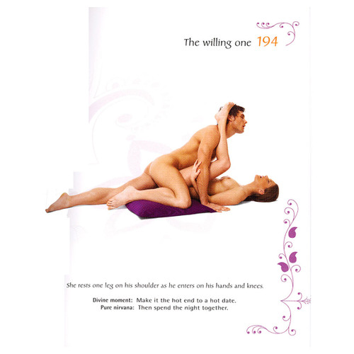 An interior page of Kama Sutra 365 demonstrating a sex position with photo and description.