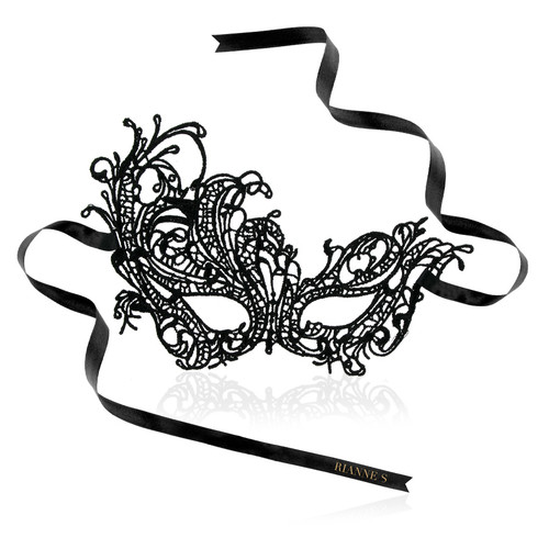 Front view of Rianne S Violaine mask with white background