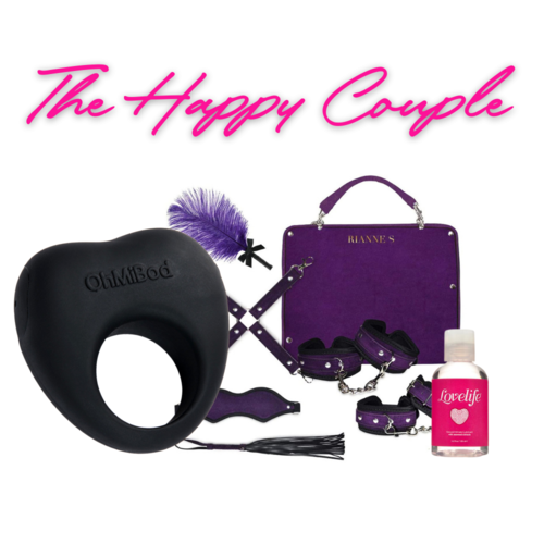 Front View of the OhMiBod The Happy Couple Gift Set on a white background