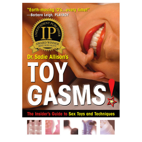 """An image of the book cover of Dr. Sadie Allison's """"Toygasms!"""""""
