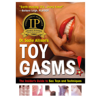 "An image of the book cover of Dr. Sadie Allison's ""Toygasms!"""